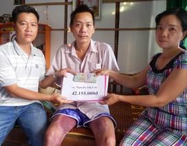 """Trao hơn 42 triệu đồng đến """"người đàn ông mất cả 2 tay vì điện giật"""""""