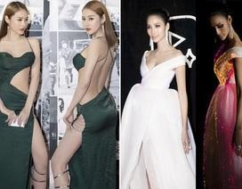 Hoàng Thuỳ, Phạm Hương mặc đẹp với váy phát sáng; Linh Chi hở bạo kém duyên