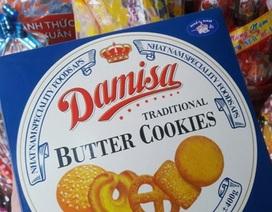 """Cận Tết, """"choáng"""" với nhiều loại bánh kẹo giả, nhái nhãn mác cực kỳ tinh vi"""