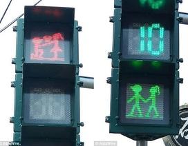 """Đèn giao thông """"tình yêu"""" khiến người dân… thích sang đường"""