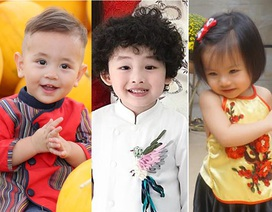 Những nhóc tì đáng yêu của sao Việt đón năm mới