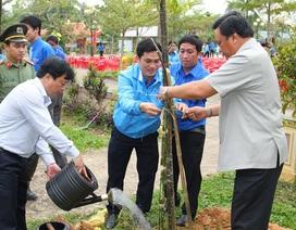Tuổi trẻ Bình Định trồng cây nhớ ơn Bác Hồ