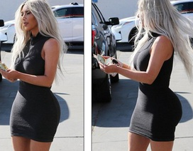 """Kim Kardashian diện váy bó sát """"lộ"""" vòng ba ngoại cỡ"""