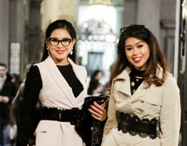 Thảo Tiên hội con nhà giàu sành điệu ở tuần lễ thời trang Milan