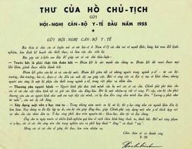 Bức thư quý của Bác Hồ được trao cho ngành y tế