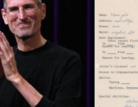 Đơn xin việc đầy lỗi chính tả của huyền thoại Steve Jobs được đấu giá cao ngất ngưởng
