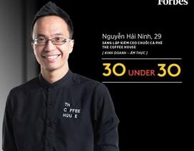 CEO chuỗi cửa hàng cà phê nổi tiếng được đề cử Gương mặt trẻ Việt Nam tiêu biểu 2017