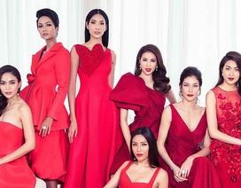 Dàn người đẹp Hoa hậu Hoàn vũ tung ảnh đỏ rực đón năm mới