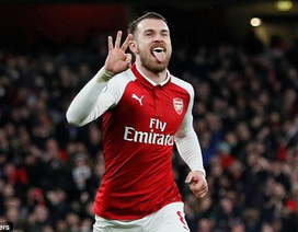 Arsenal 5-1 Everton: Ramsey lập hat-trick, Aubameyang góp công