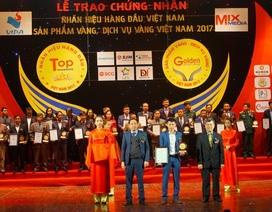 """Vingroup, Fami, Đồ da Tâm Anh,.. vinh danh Top """"nhãn hiệu hàng đầu Việt Nam 2017"""""""