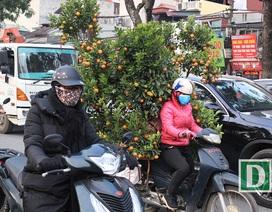 """Hà Nội những ngày giáp Tết, giao thông """"nhích từng tí một"""""""