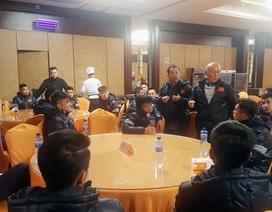 U23 Việt Nam có mặt tại Trung Quốc, tái tê vì thời tiết giá lạnh