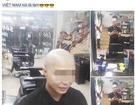 """""""Dở khóc, dở cười"""" với màn cạo đầu, đập ti vi… mừng chiến thắng của U23 Việt Nam"""