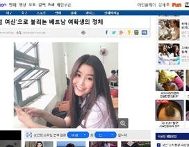 """""""Thiên thần áo dài"""" Việt được báo Hàn Quốc gọi là """"nữ thần không góc chết"""""""