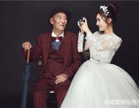 Sự thật đằng sau bộ ảnh cưới của cô gái xinh đẹp 25 tuổi và cụ ông Trung Quốc 87 tuổi
