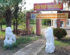 """Đề nghị đưa cặp sư tử đá không rõ """"lai lịch"""" ra khỏi Đền thờ Vua Hùng"""