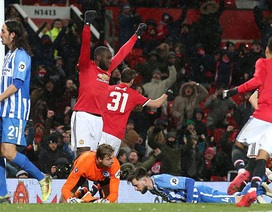 """MU 2-0 Brighton: Lukaku, Matic đưa """"Quỷ đỏ"""" vào bán kết"""