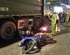 Tạm giữ tài xế xe ben tông hàng loạt xe máy