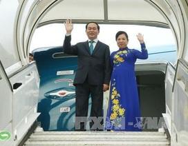Chủ tịch nước Trần Đại Quang và Phu nhân lên đường thăm Ấn Độ
