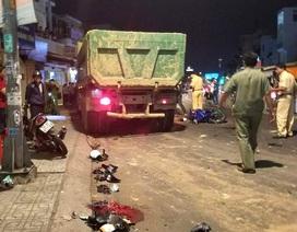 Vụ xe ben tông hàng loạt xe máy: 1 nạn nhân đã tử vong