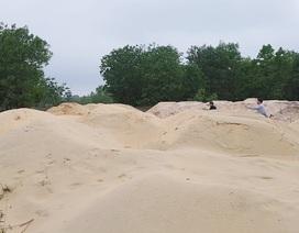 """Nhiều bãi cát lậu """"tập kết"""" dày đặc trong Khu kinh tế Chân Mây - Lăng Cô!"""