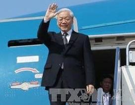 Tổng Bí thư Nguyễn Phú Trọng lên đường thăm Pháp và Cuba