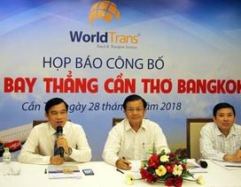 Mở đường bay thẳng Cần Thơ - Bangkok phục vụ khách du lịch trong mùa hè