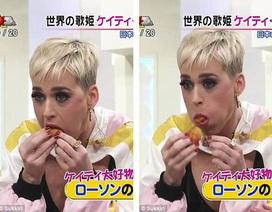 """Ngôi sao nhạc pop Katy Perry ăn uống """"kém duyên"""" trên truyền hình Nhật"""