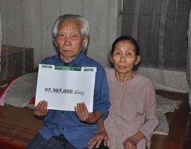 Gần 96 triệu đồng đến với gia đình ông Hoa