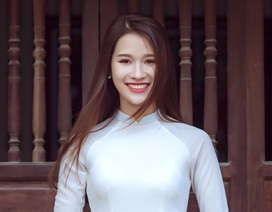 Xao xuyến nụ cười trong veo của thiếu nữ quê lúa Thái Bình