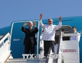 Chủ tịch Raul Castro Ruz cùng Tổng Bí thư Nguyễn Phú Trọng thăm thành phố Santiago De Cuba