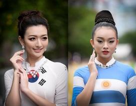 NTK Đỗ Trịnh Hoài Nam giới thiệu áo dài dát vàng tại khai mạc tuần lễ áo dài TP.HCM