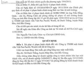 """Chủ tịch tỉnh Bắc Giang xử phạt """"thẳng tay"""" doanh nghiệp """"bức tử"""" môi trường!"""
