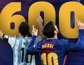 Siêu phẩm vào lưới Atletico giúp Messi cán cột mốc vĩ đại