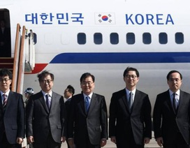 Ông Kim Jong-un lần đầu đón quan chức Hàn Quốc