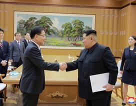 Cuộc gặp lịch sử của ông Kim Jong-un và đoàn quan chức cấp cao Hàn Quốc