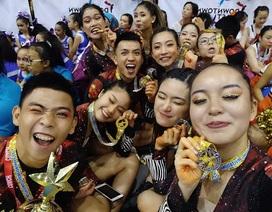 Nhóm bạn trẻ từ Hà Nội vô địch giải cheerleading quy mô châu Á