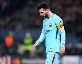 Barcelona thua sốc trước AS Roma: Gánh nặng trên vai Messi