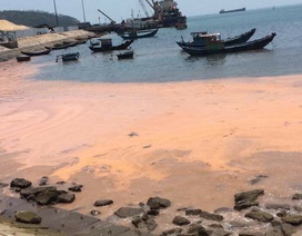 """Dải nước màu đỏ dọc bờ biển Quảng Bình là hiện tượng """"tảo nở hoa"""""""