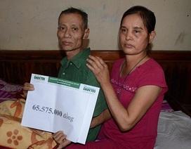 Hơn 65 triệu đồng đến với gia đình anh Nguyễn Trung Quàng