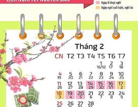 Lịch nghỉ Tết âm lịch năm 2019: Nhiều khả năng sẽ kéo dài 9 ngày