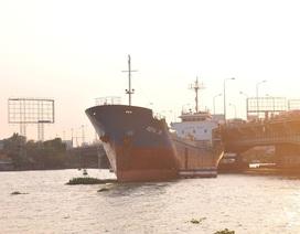 """Vụ tàu """"khủng"""" đâm cầu Đồng Nai: Chưa xác định thiệt hại"""