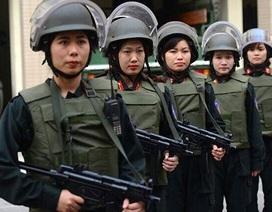 Ở HàNội, có một tiểu đội nữ Cảnh sát đặc nhiệm