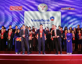 Bảo hiểm VietinBank VBI 4 năm liên tiếp nhận giải thưởng Thương hiệu mạnh Việt Nam