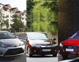Lựa chọn Toyota Vios, Honda City hay Hyundai Accent?