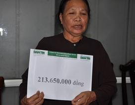 Gần 214 triệu đồng đến với em Mơ bỏng nặng vì lao vào cứu bạn