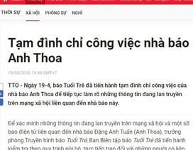 Báo Tuổi trẻ tạm đình chỉ công việc nhà báo Anh Thoa