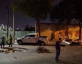 Ô tô tông hàng loạt xe máy, 2 người tử vong, 3 người nhập viện