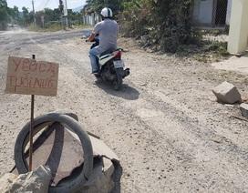 Rót hơn 300 tỷ làm lại con đường khốn khổ bị người dân chặn xe vì bụi