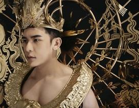Minh Trung mang trang phục nặng 40kg dát vàng dự thi Mister International